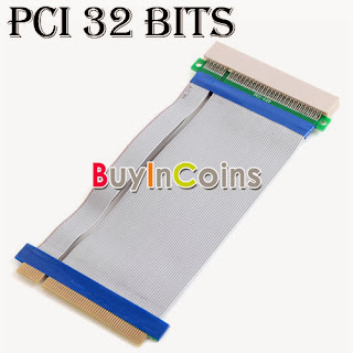 1X/8X/16X 1X To 16X PCI-E Extension Flex Cable PCI Extender Riser Card Adapter