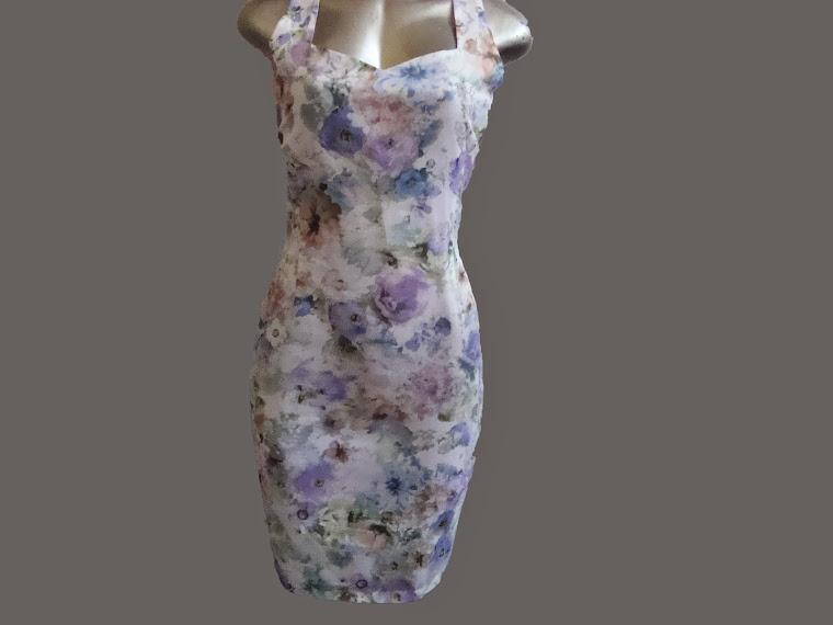 vestido tubinho estampado