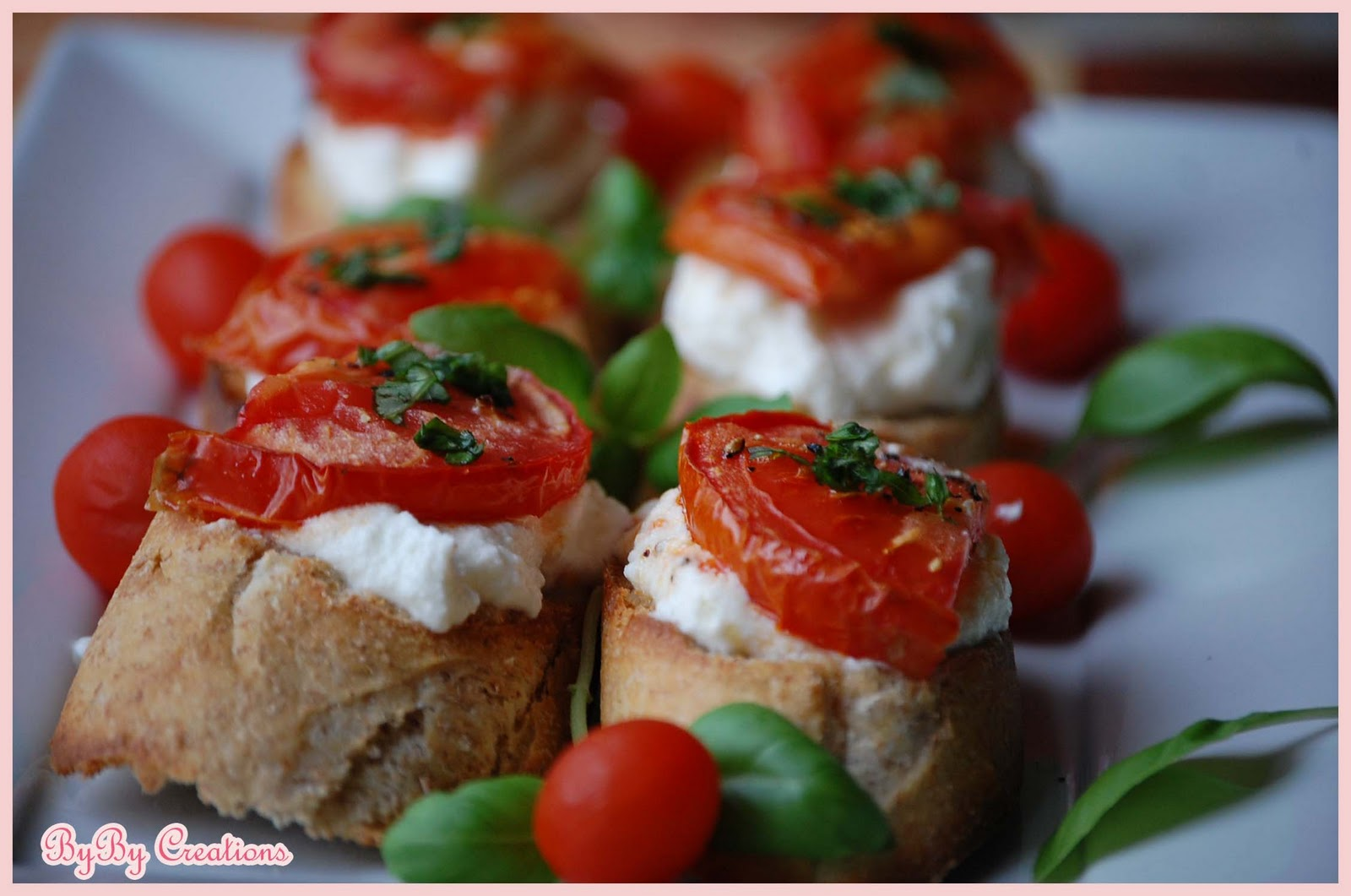 Herbed Ricotta And Tomato Crostini Recipe — Dishmaps