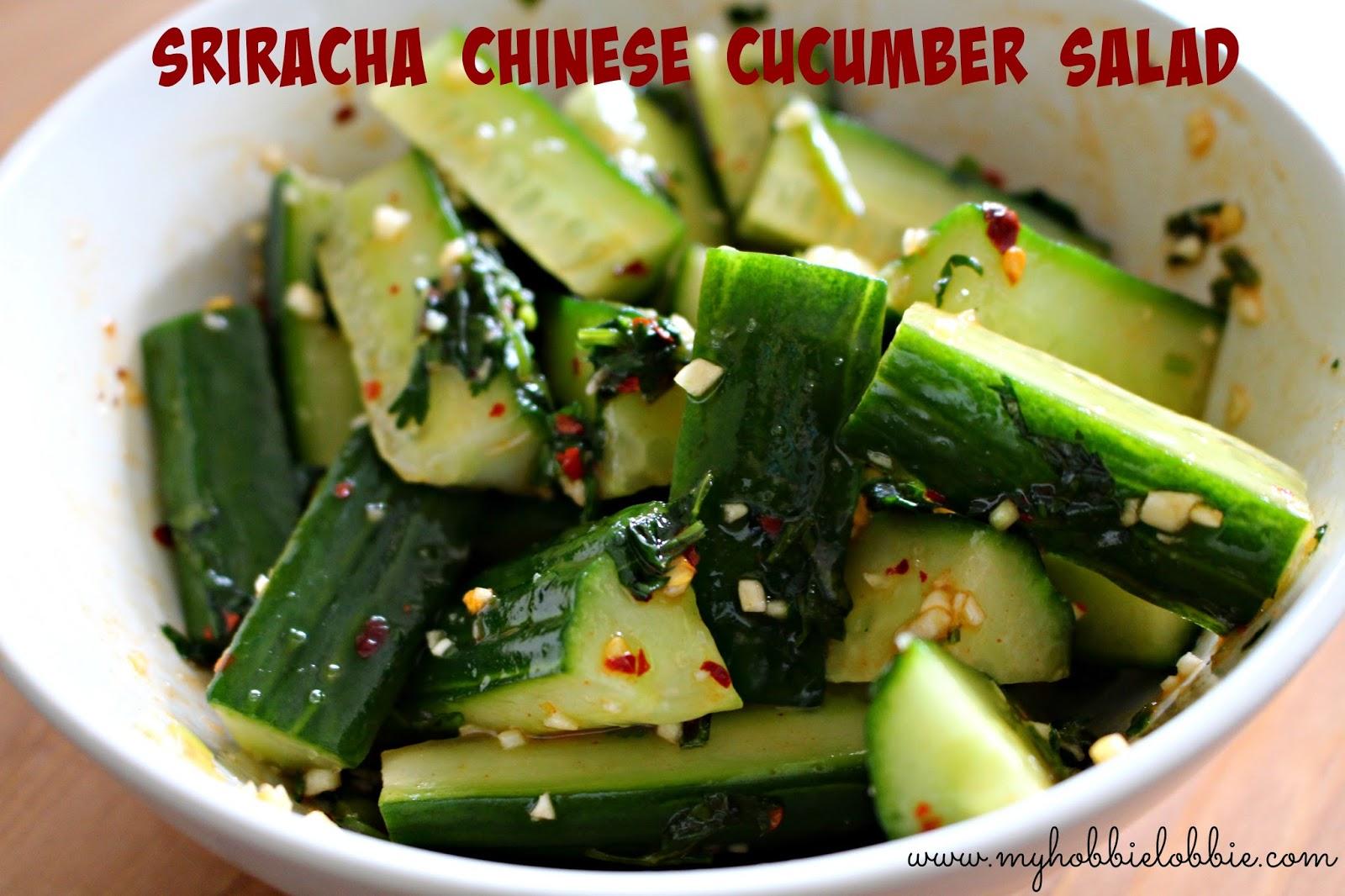 The Aspiring Home Cook: Sriracha Chinese Cucumber Salad