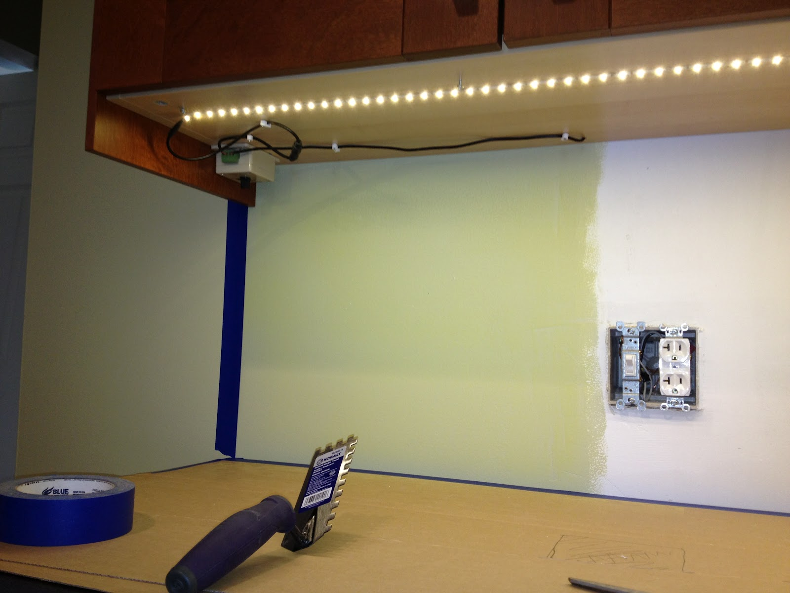 Led under counter light strips - How To Install Under Cabinet Lighting Pics Photos Wiring For