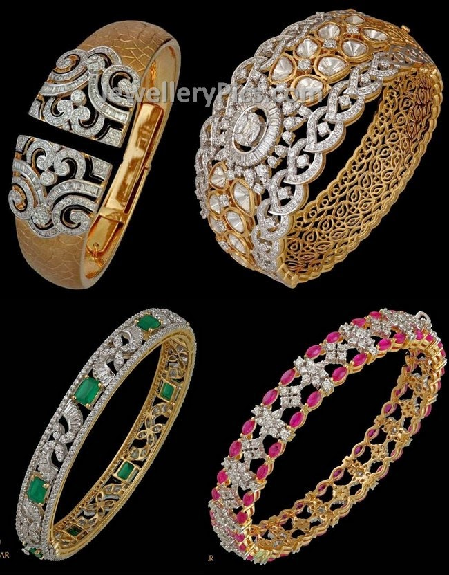 studded pin gold diamond designer jewelry bracelet jewellery