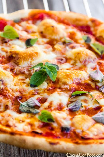 Pizza casera sin gluten - Receta facil