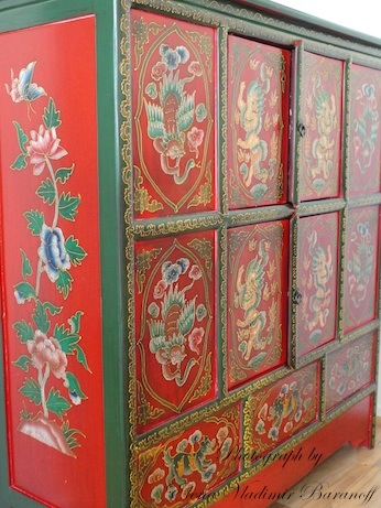 Elena Baranoff - Artist Elena Baranoff - Elena V. Baranoff - Decorative Cabinet For Fine Art Pigments - Cabinet For Egg Tempera Pigments - Artist Elena V. Baranoff - Master Elena Baranoff