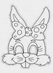 máscara coneja coelha rabbit mask