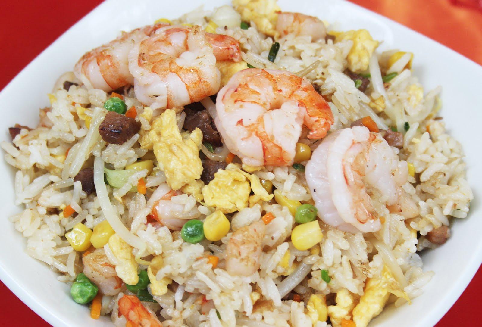 Recette du riz cantonnais (tout cela est approximatif et peut être adapté  en fonction de chacun!)
