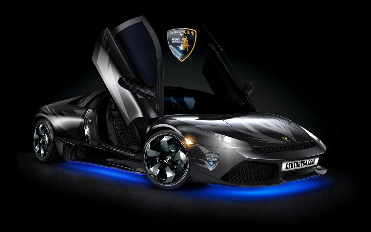 Wallpapernarium Lamborghini Murcielago Tuning Negro