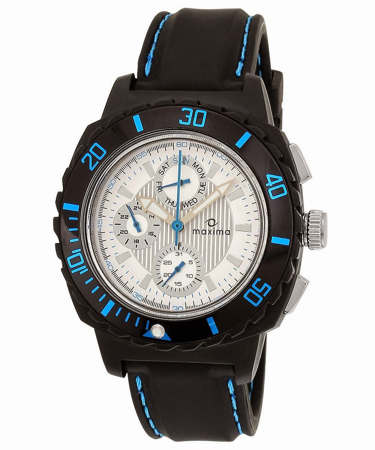 Amazon : Buy Maxima Hybrid Collection Analog Black Dial Men's Watch at Rs. 899 only