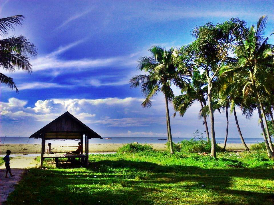 pantai pagatan di kalimantan selatan