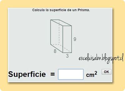 Cálculo de la superficie de un prisma.