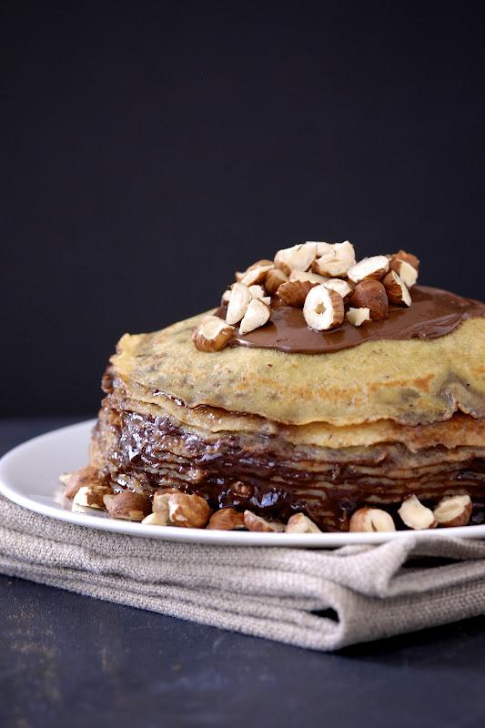 Gluten-Free Ratio Rally: Nutella Crepe Cake