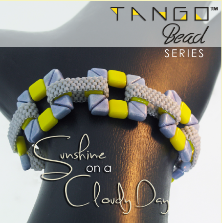 Sunshine on a cloudy day peyote stitch bracelet pattern