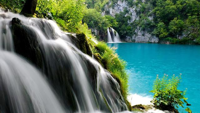 Plivice Lake Waterfall