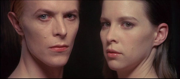 David Bowie and Candy Clark in The Man Who Fell to Earth