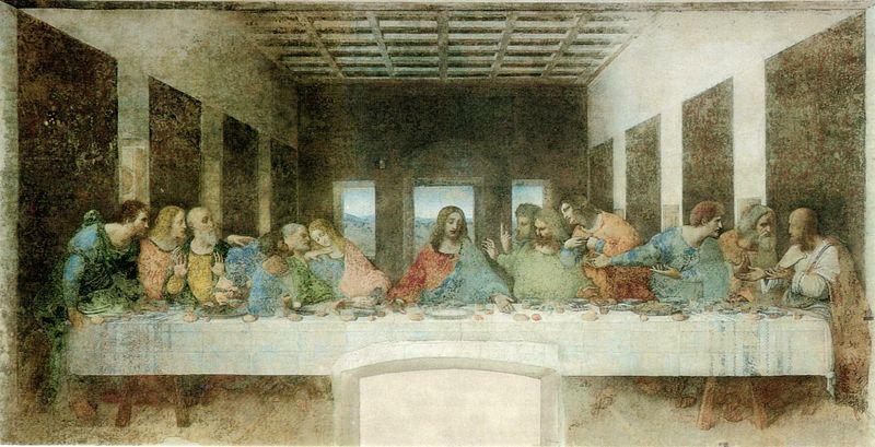 La Última Cena pintada por Leonardo da Vinci