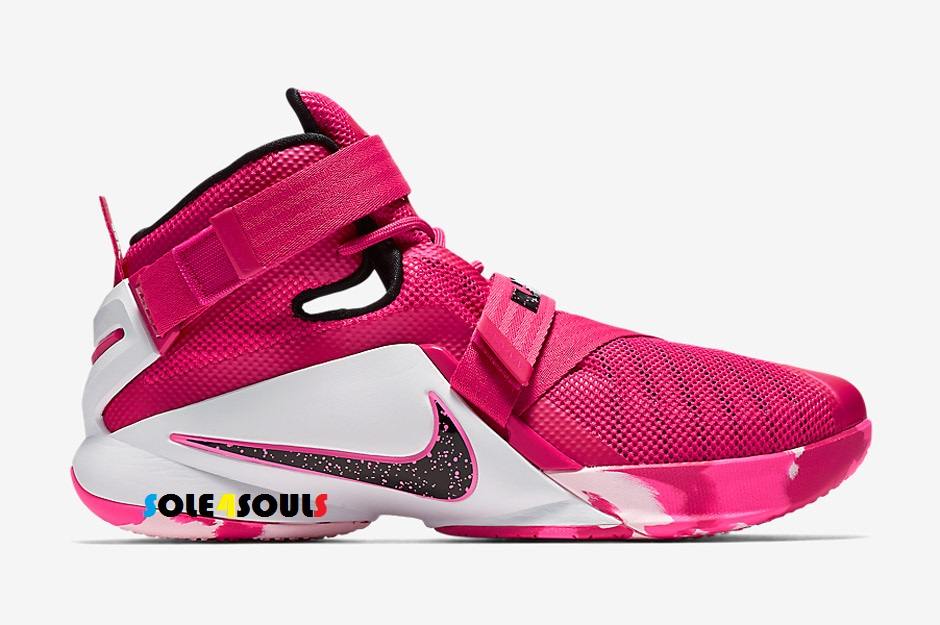 "Sole4Souls : NIKE LEBRON SOLDIER 9 ""THINK PINK"""