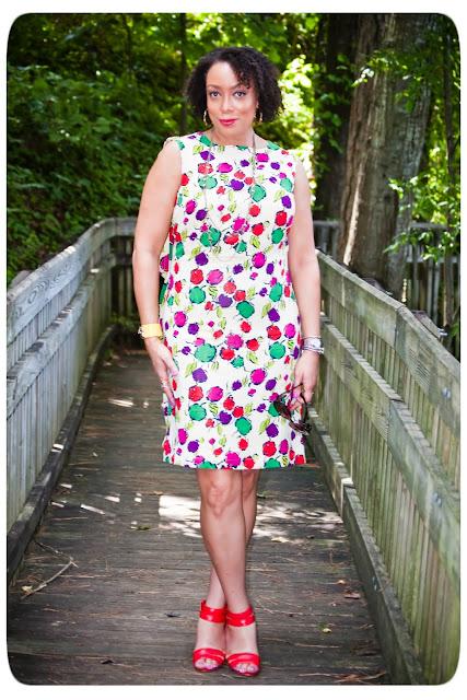 printed silk crepe dress
