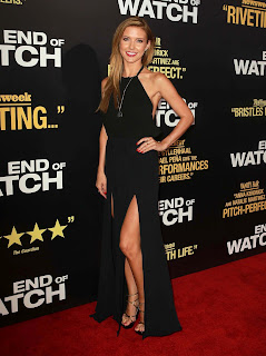 Audrina Patridge shows off her great legs in a hot black dress