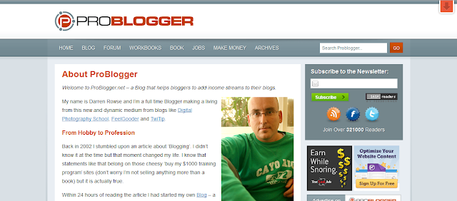 problogger 8 Top About Us Pages Online