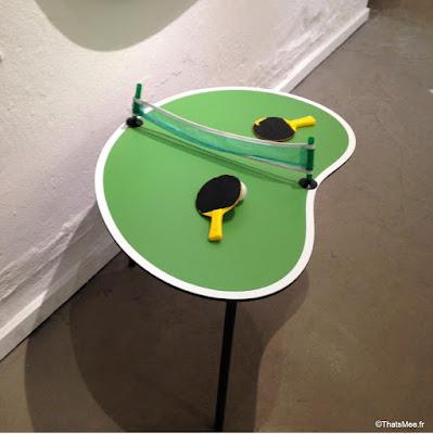 Designer Zoo design creation atelier Design concept Store à Copenhague, table ping pong forme cacahuète