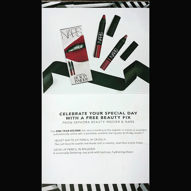 Sephora Nars Velvet Matte Lip Pencil Cruella Satin Lip Pencil Rikugien Birthday Sephora Beauty Insider Birthday Gift