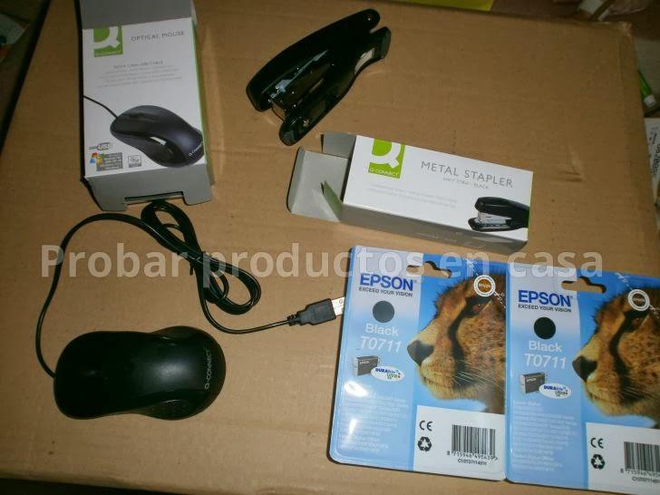 Material escolar Informática escolar, grapadora y ratón