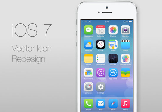 iOS 7 Icons redesign by Ida Swarczewskaja