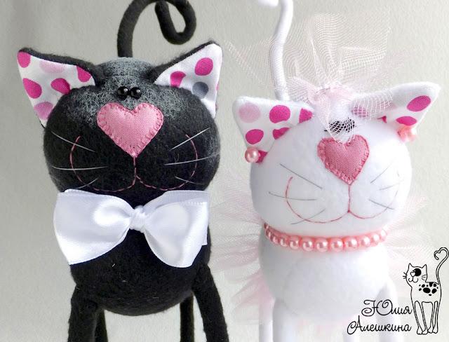 Свадебные котики. Горошковые ушки