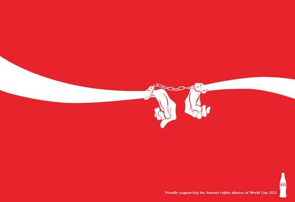 FIFA, anti-logos corporativos, Coca Cola