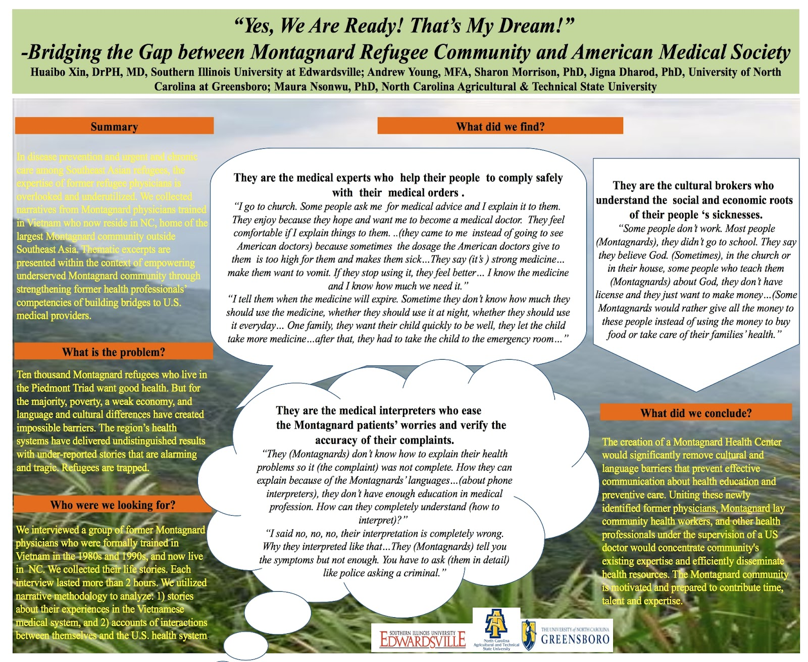 Young Projects: Montagnard Health Meeting: Follow Up Events