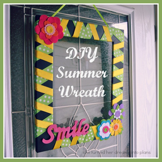 DIY Colorful Summer Wreath