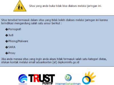Cara Membuka Situs Kena Blokir Kemkominfo, Telkom, Nawala, ISP Indonesia