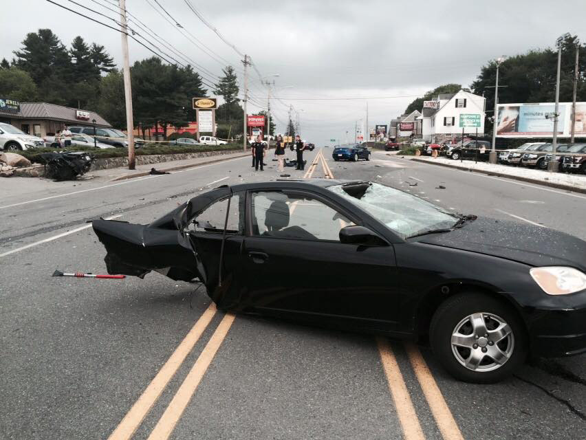 Car Accident On I  In New Hampshire
