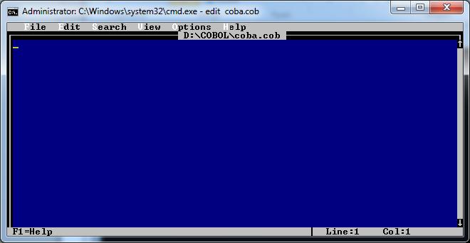 cobol%2B3 - Cara Menjalankan Cobol Compiler