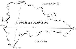Mapa de República Dominicana para pintar