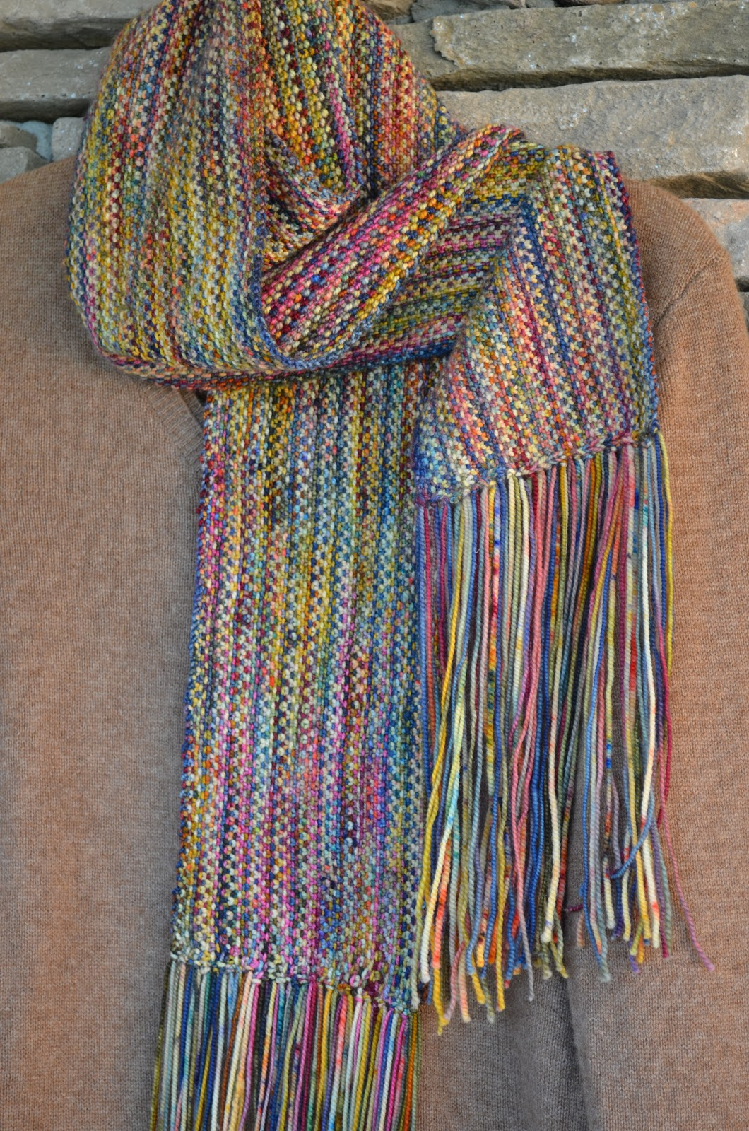 Knitting on Cloud IX: a year end scarf