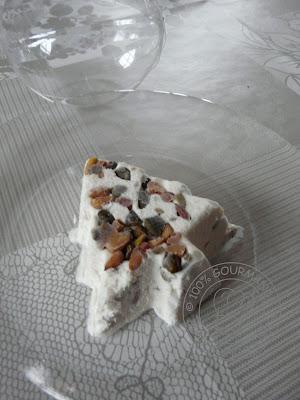 recettes dessert  Nougat glacé