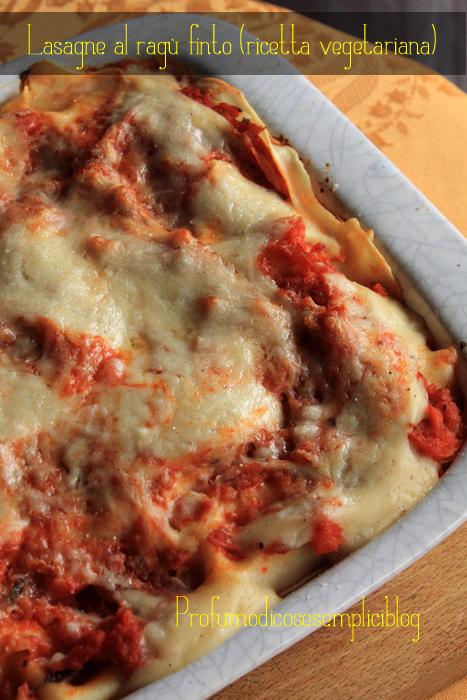 lasagne al ragù finto {ricetta vegetariana}
