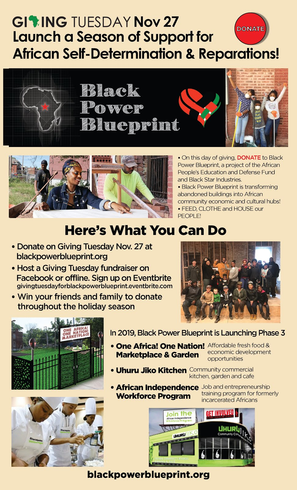 Giving Tuesday--Donate to Black Power Blueprint and Invite Your Friends to Donate