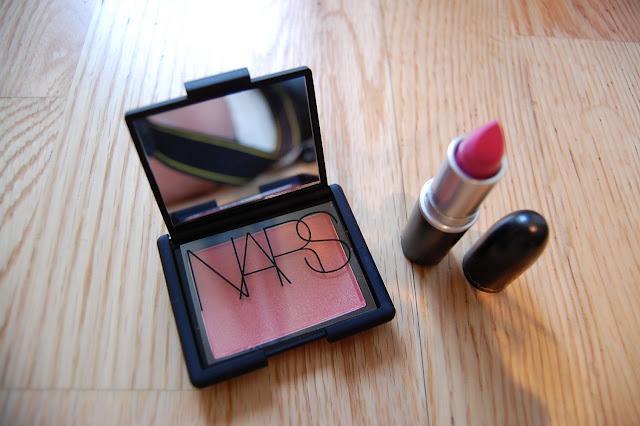 NARS Orgasm, NARS Orgasm blush, Orgasm blusher, MAC Pink Nouveau, MAC Pink Nouveau Lipstick
