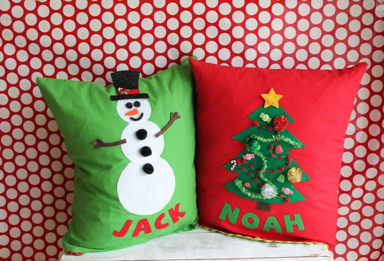 Christmas Pillows Part - 40: Kids Christmas Pillows
