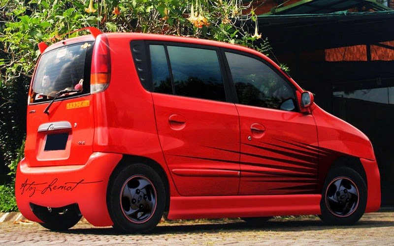 Modifikasi Hyundai Atoz Merah