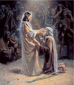Jesus healing the blind man pictures for kids