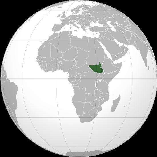 Globo Terráqueo Sudán del Sur