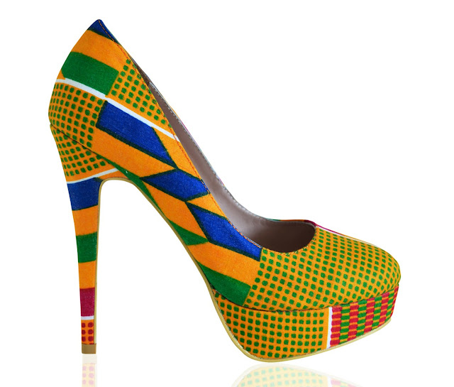 Kente inspired shoes