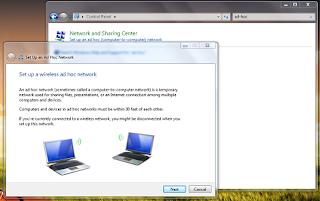 Membuat Jaringan ad-hoc Di Windows 7