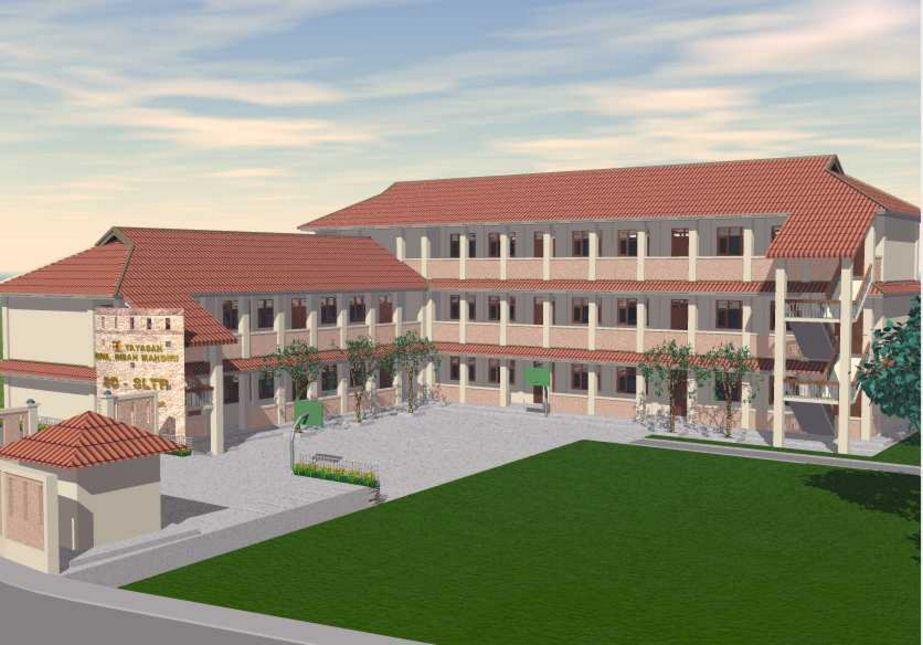 kreasi design sekolah modern yang menarik