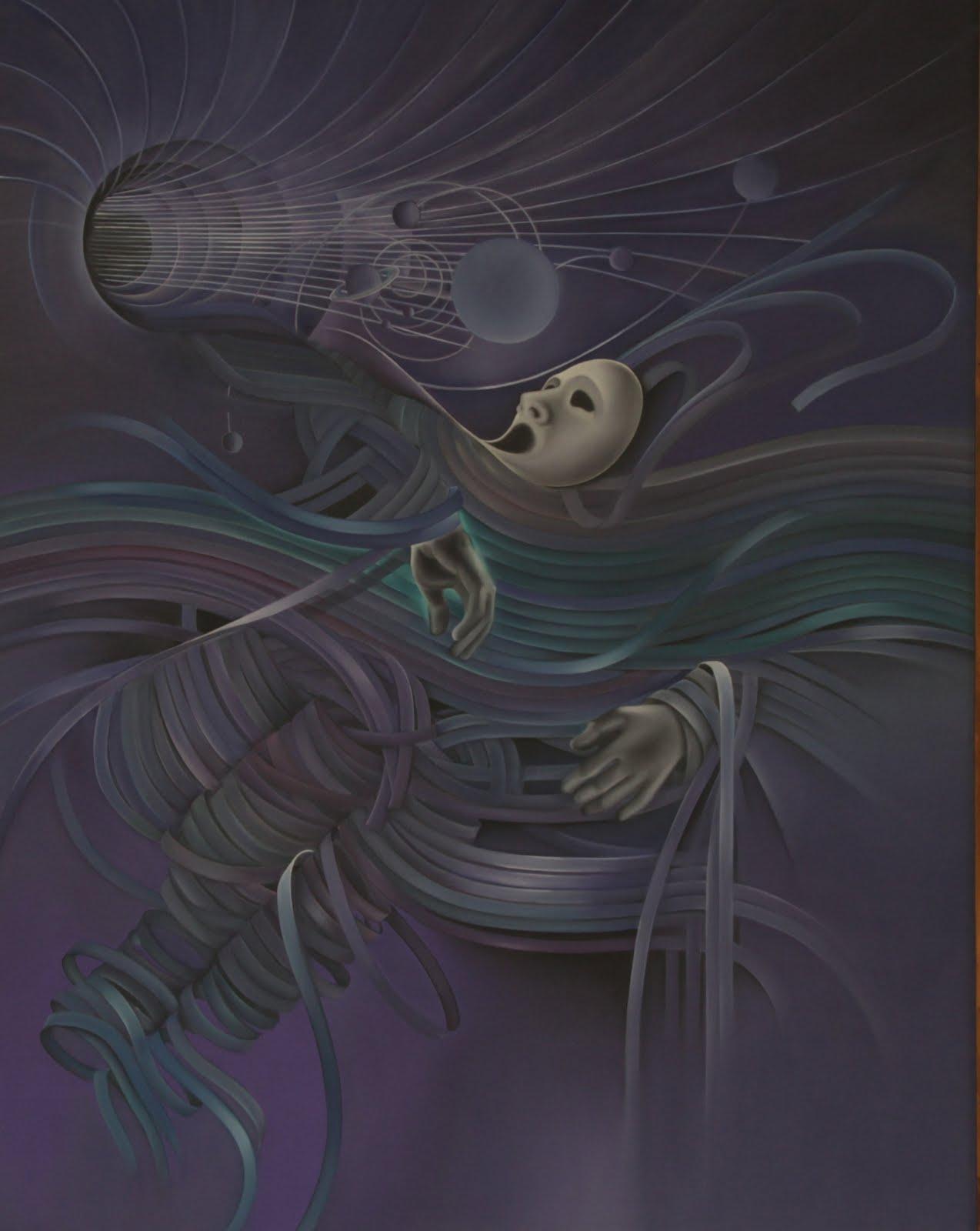 Solange Alves, A Onda,  óleo sobre tela, 110x140 cm.