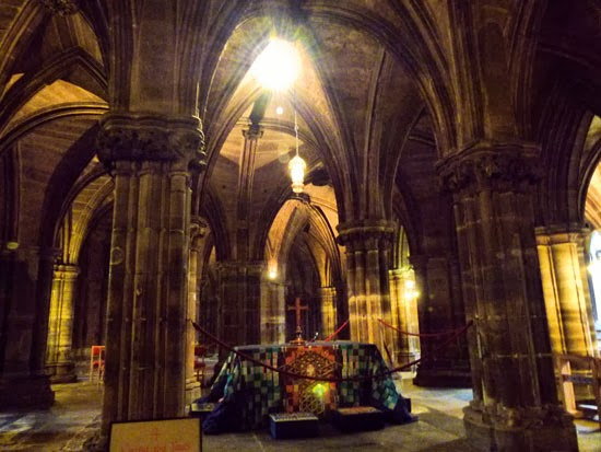 St Mungo, Glasgow Cathedral, tomb, lower church, crypt