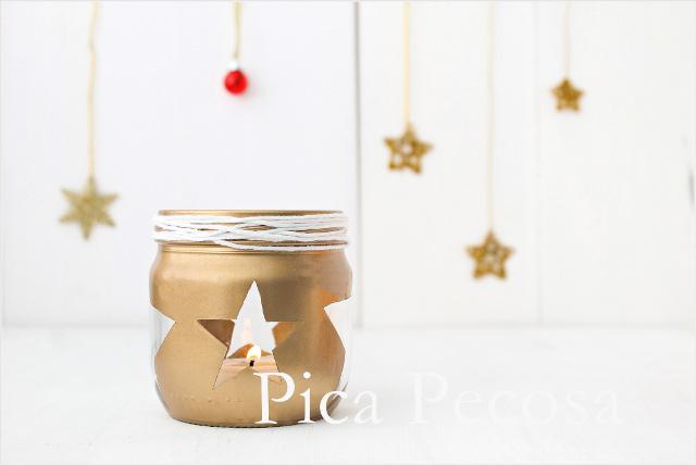 Haz un portavelas diy para tu mesa de navidad con un bote - Portavelas cristal ...